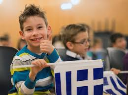 greek-flag-children